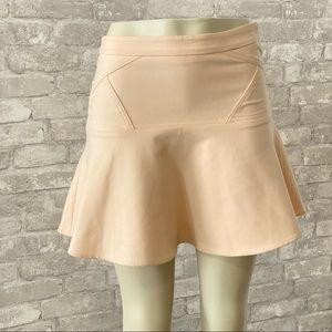 Club Monaco Cream Circle Skater Lined Skirt